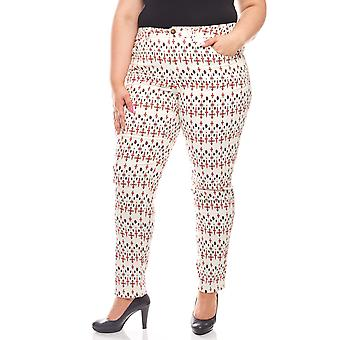 sheego ethno-summer-look plus size stretch trousers beige