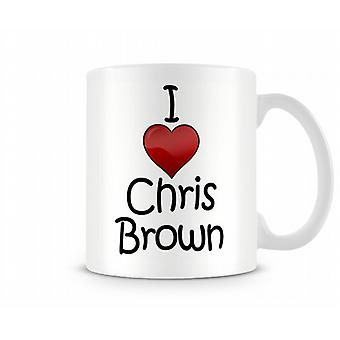 Amo la tazza stampata di Chris Brown