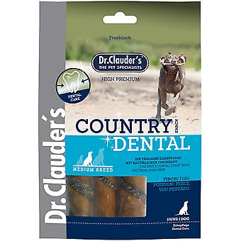 Dr. Clauder's Country Dental Snack Fish and Pork Skin (Dogs , Treats , Dental Hygiene)