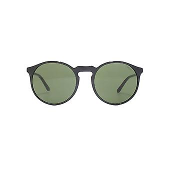 Polo Ralph Lauren Round Keyhole Sunglasses In Black