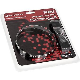 PC の LED ストリップ 30 cm レッド Bitfenix 錬金術 2.0 磁気 LED ストリップ