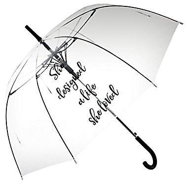 Parapluie transparent droit (elle a conçu une vie qu'elle aimait)