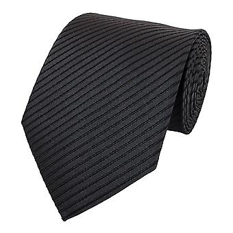 Tie cravate cravate cravate 8cm anthracite noir rayé Fabio Farini