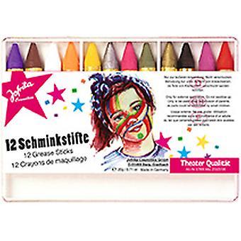 12 Schminkstifte