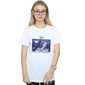 Michael Jackson Frauen glatte kriminellen schlank Freund Fit T-Shirt