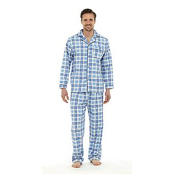 Tom Franks Mens Brushed Cotton Checked Pyjama Lounge Wear