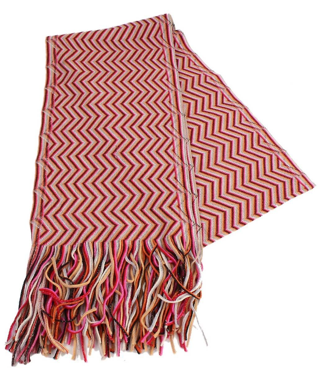 Bassin and marron Peate Chevron Wool Scarf - rouge Beige