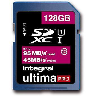 Integral 128GB Ultima Pro SDXC 95MB/s Read / 45MB/s Write - Class 10