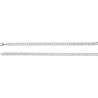 Anel de prata esterlina cadeia colar - tamanho 6 - comprimento: 16 a 20