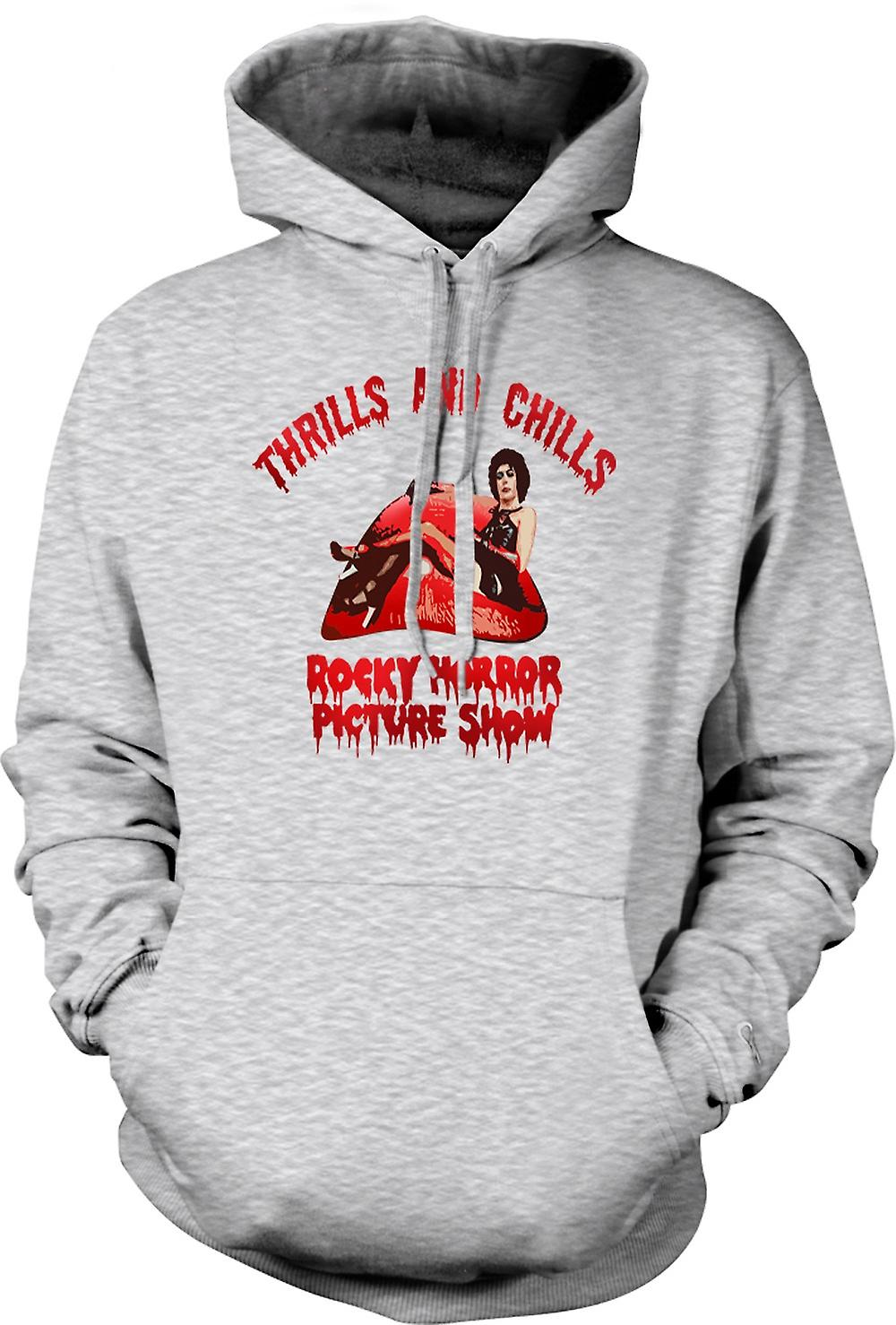 Mens Hoodie - Thrills Frissons Rocky Horror Picture