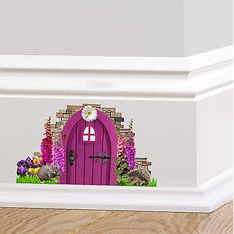 Full Colour Purple Fairy Pixie Door Wall Sticker