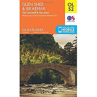 OS Explorer OL52 Glen Shee & Braemar (OS Explorer Map)