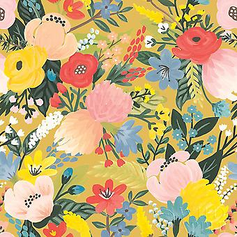 Wild Garden Pattern Ic Poster Print by Laura Marshall