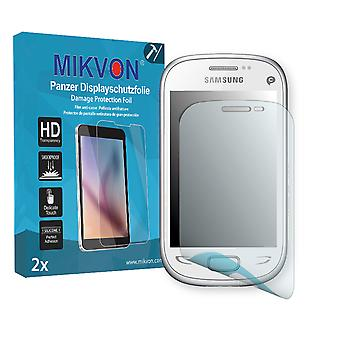 Samsung S5292 Rex 90 Screen Protector - Mikvon Armor Screen Protector (Retail Package with accessories)