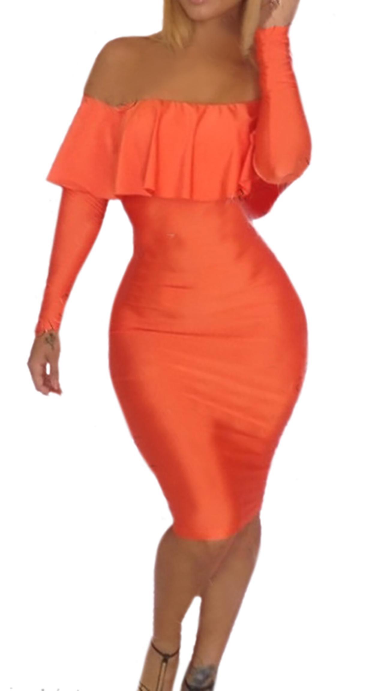 Waooh - dress with ruffle neckline Ebwy
