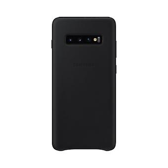 Samsung leather cover black for Samsung Galaxy S10 plus G975F EF-VG975L bag case protective cover