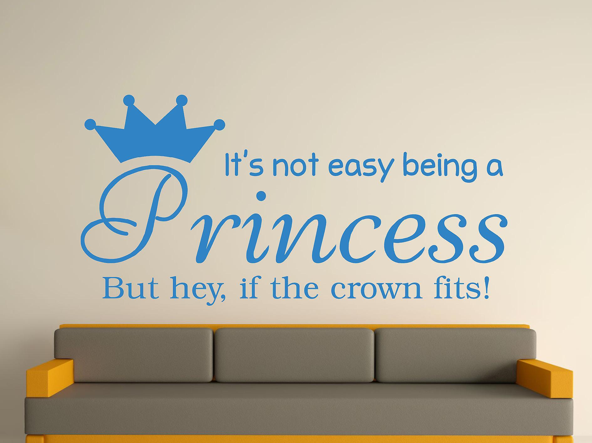 Being A Princess Wall Art Sticker - Olympic Blue