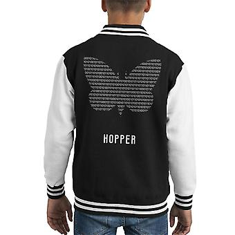 Maths And Science Butterfly Effect Binary Hopper Kid's Varsity Jacket