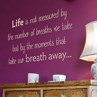 Life is Measured wall Quote