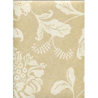 Floral Tapete Blumen Blätter Kenneth James Gold weiße Paste das Papier