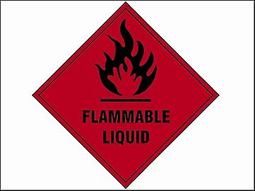Scan Flammable Liquid SAV - 100 x 100mm