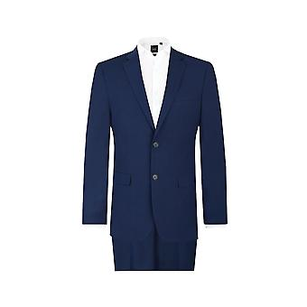 Dobell Mens dunkel blau 2 Stück Anzug passen regelmäßige Kerbe Revers
