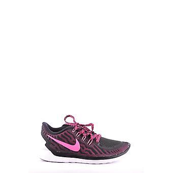 Nike Black/pink Fabric Sneakers