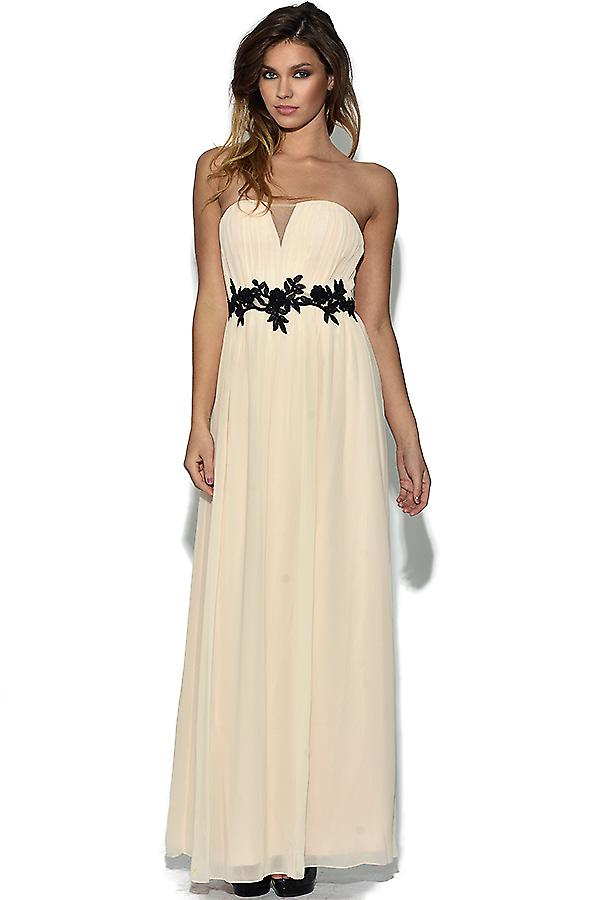 Little Mistress Floral Waist Maxi Dress