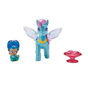 Paquete de pony Shimmer And Shine Teenie Genie - Shine And Zahracorn