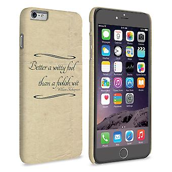 Caseflex iPhone 6 Plus en 6s Plus Shakespeare Quote geval
