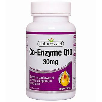 Nature's Aid CO-Q-10 30mg (Co-Enzyme Q10) Softgels 30