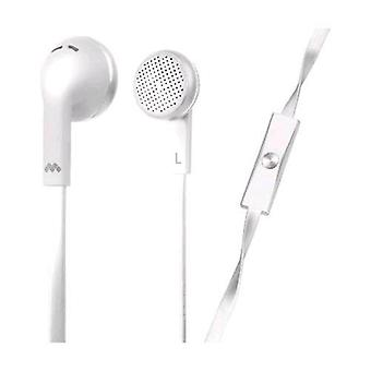Meliconi my sound speak flat earphones with microphone cable 1.2 mt jack 3.5 mm color white