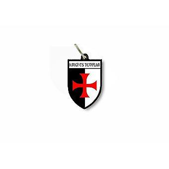 Porte cles clefs drapeau ville blason templier croix jerusalem knight templar