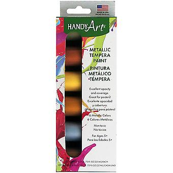Handige Art Tempera verf Kit .75oz 6/Pkg-metalen 882-125J