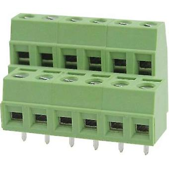 Screw terminal 2.08 mm² Number of pins 6 DG127A-5.08-06P-14-00AH Degson Green 1 pc(s)
