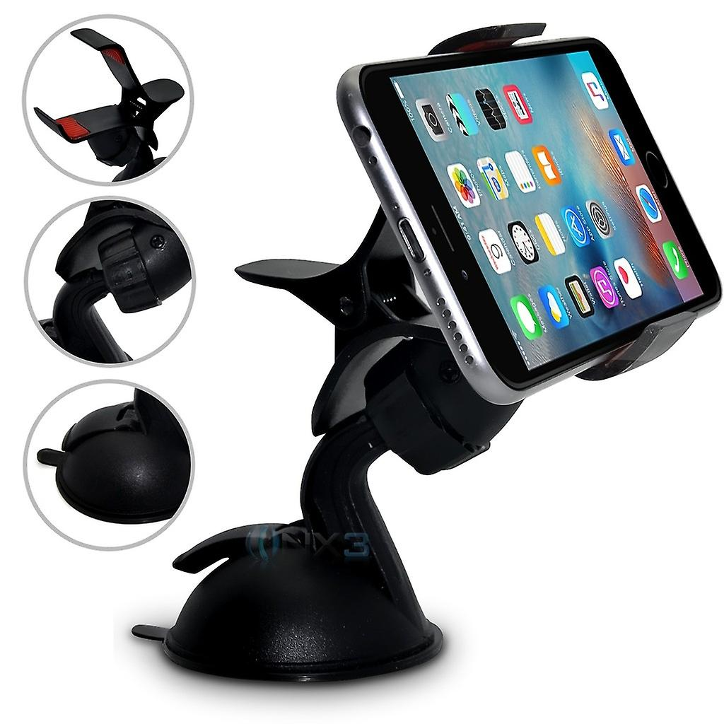 (SuperClaw Black) HTC Desire 526 Windscreen Mobile Phone Smart Car Dashboard Mount Holder Cradle ONX3®