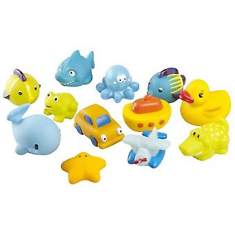 Babymoov Friends Bath  kid  (12 Units) (Toys , Preschool , Babies , Bathing Toys)