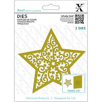 Xcut Decorative Die-Filigree Christmas Star XC504043