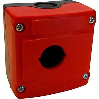 Enclosure 1 installation slots (L x W x H) 74 x 74 x 48 mm Red, Black BACO LBX0100RN 1 pc(s)