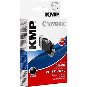 KMP Ink replaced Canon CLI-571 BK XL Compatible Photo black 1568,0001