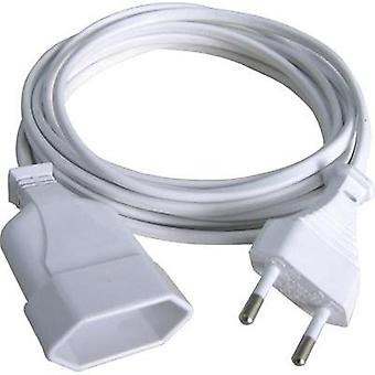 Current Extension cable [ Europlug - Euro connector] 2.5 A White 2 m GAO 145601098