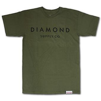 Diamond Supply Co. Pierre taillée T-shirt vert