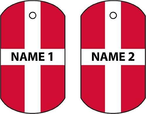 Personalised Denmark Dog Tag Car Air Freshener