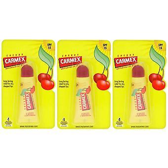 Carmex kirsebær fugtgivende læbe balsam rør 10g (3-Pack)