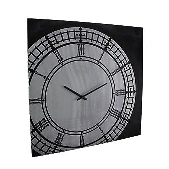 Black & White Vintage Inspired Canvas Print Wall Clock 21 X 21 Inch