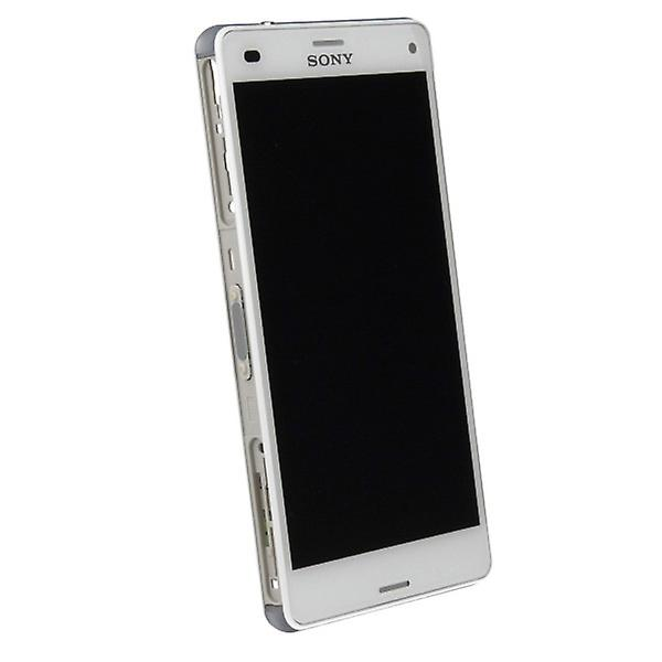 Original Sony Display LCD complete unit with frame for Xperia Z3 Compact White