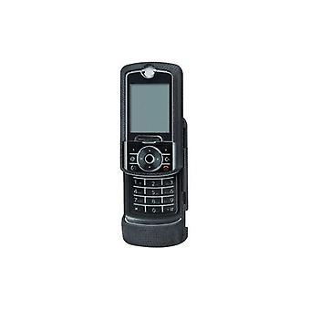 Cuerpo de guante Snap-on caso para Motorola RIZR Z6tv, ROKR Z6, Z6m (negro)