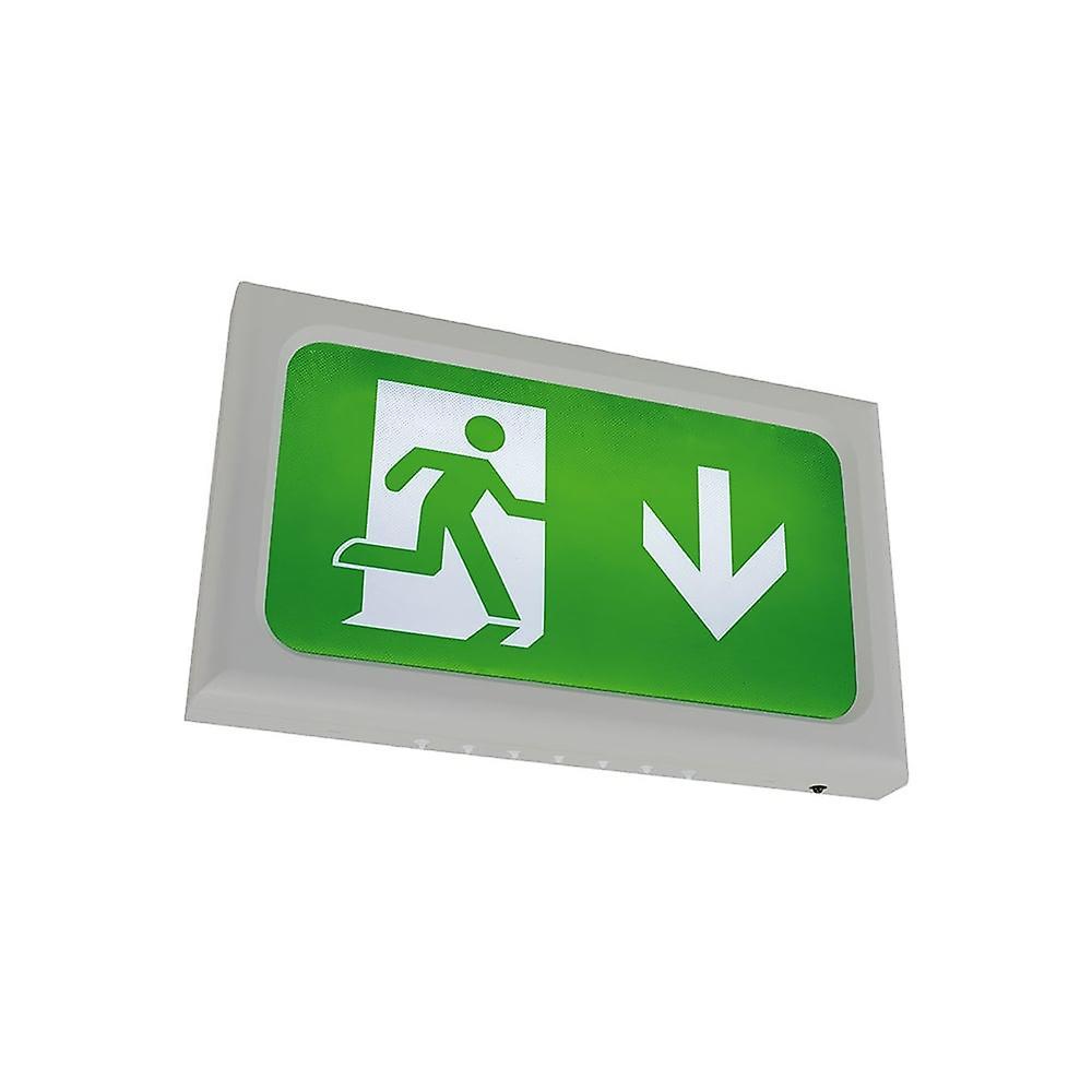 Ansell Encore LED Emergency Exit Box, Silver Grey