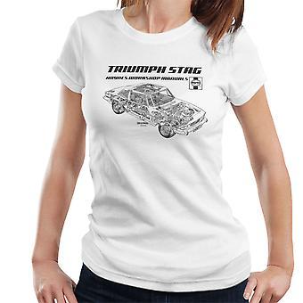 Haynes Workshop manuelle 0441 Triumph Stag schwarz Damen T-Shirt