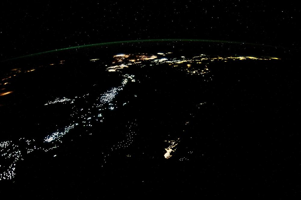Night time satellite image of Philippines Poster Print by Panoramic Images (36 x 24)